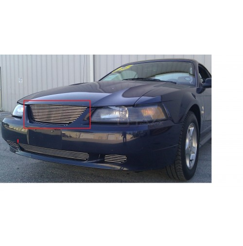 2003 Ford Mustang V6 GT 1Pc Upper Replacement Billet Grille