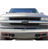 2003 Chevrolet Suburban 2Pc Fog Light Area Billet Grille Kit