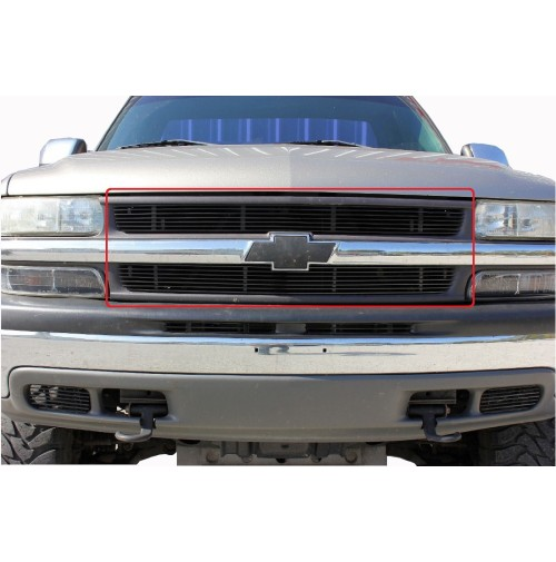2001 Chevrolet Silverado 1500 2Pc Upper Billet Grille Insert Kit