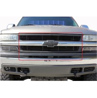 2003 Chevrolet Suburban 4Pc Combo Billet Grille Kit