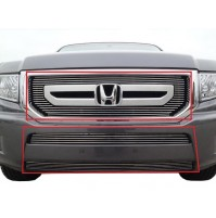 2011 Honda Ridgeline 3Pc Upper & Bumper Billet Grille Kit