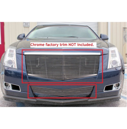 2008 Cadillac CTS 4Dr Sedan 2Pc Replacement Combo Billet Grille Kit