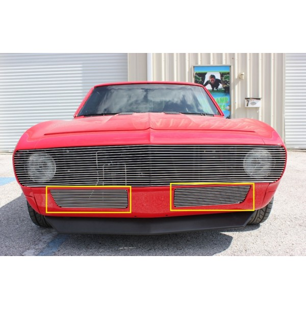 1967 Chevrolet Camaro 2Pc Bumper Billet Grille Kit