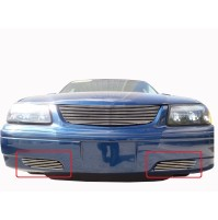2003 Chevrolet Impala 2Pc Bumper Accent Billet Grille Kit
