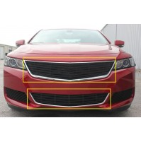 2019 Chevrolet Impala 2Pc Overlay Combo Billet Grille Kit Without Cutout