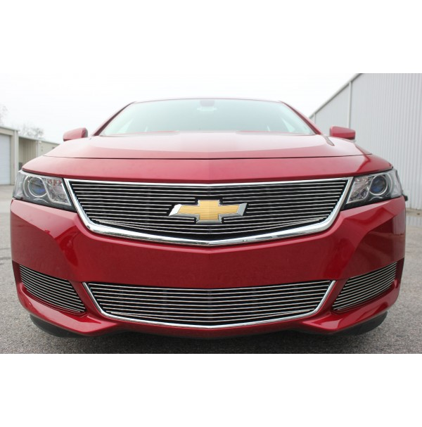 2014 Chevrolet Impala 2Pc Overlay Combo Billet Grille Kit With Cutout