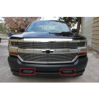 2016 Chevrolet Silverado 1500 2Pc Bumper Accent Billet Grille Kit