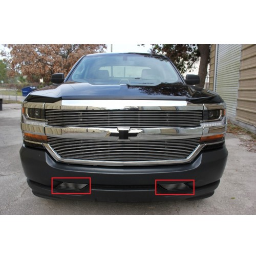 2016 Chevrolet Silverado 1500 2Pc Bumper Billet Grille Kit