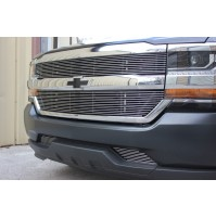 2016 Chevrolet Silverado 1500 4Pc Upper & Bumper Accent Billet Grille Kit