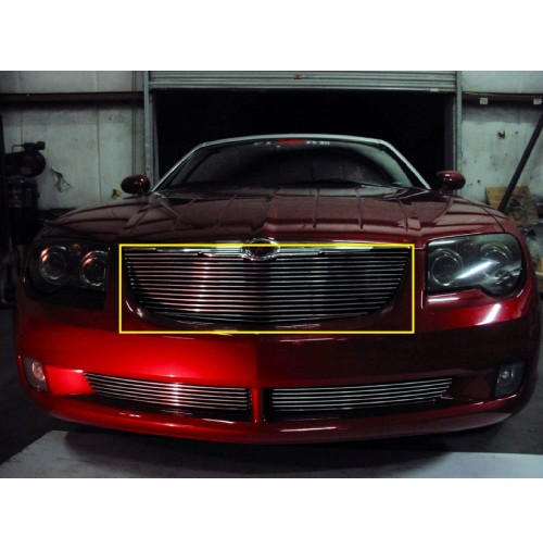 2007 Chrysler Crossfire 1Pc Upper Replacement Billet Grille