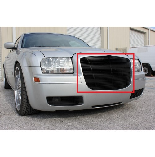 2005 Chrysler 300C 1Pc Upper Replacement Billet Grille