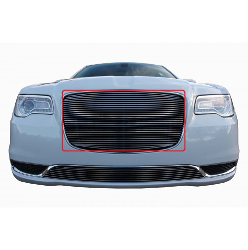 2015 Chrysler 300 1Pc Upper Overlay Billet Grille