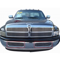 1994 Dodge Ram 3500 2Pc Bumper Billet Grille Kit