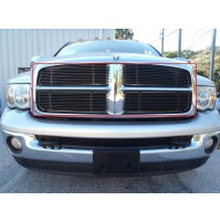 2002 Dodge Ram 1500 4Pc Upper Overlay Billet Grille Kit