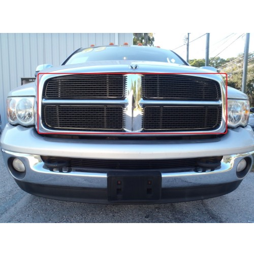 2002 Dodge Ram 2500 4Pc Upper Overlay Billet Grille Kit