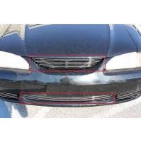 1994 Ford Mustang GT 2Pc Combo Billet Grille Kit