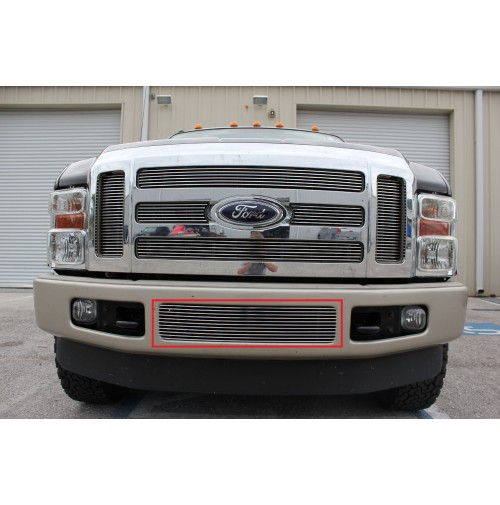 2008 Ford F250 Super Duty 1Pc Bumper Billet Grille Insert
