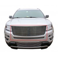 2016 Ford Explorer 2Pc Upper & Mid Bumper Replacement Billet Grille
