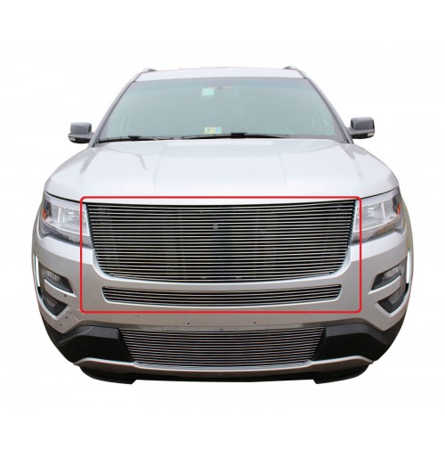 2017 Ford Explorer 2Pc Upper & Mid Bumper Replacement Billet Grille