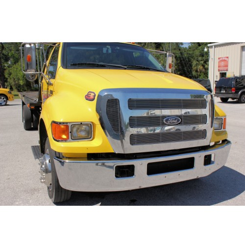 2015 Ford F750 Super Duty 5Pc Overlay Billet Grille Kit