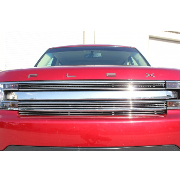 2019 Ford Flex 3Pc Upper Overlay Billet Grille Kit