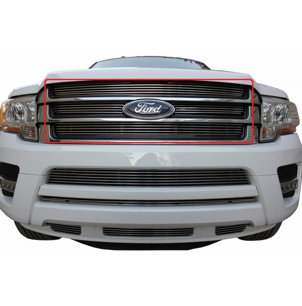 2015 Ford Expedition 4Pc Upper Billet Grille Insert Kit