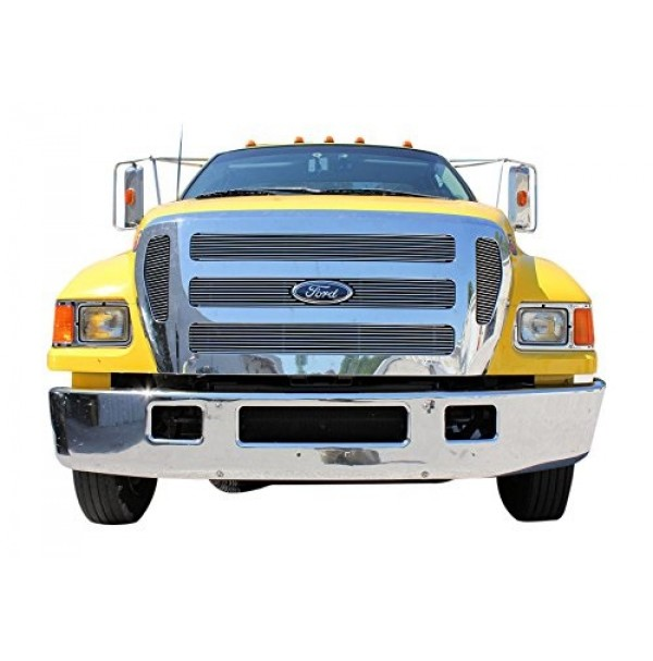 2004 Ford F-750 5Pc Upper Insert Billet Grille Kit