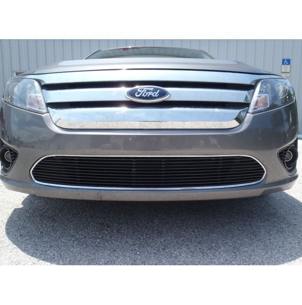 2012 Ford Fusion 1Pc Overlay Bumper Billet Grille Kit