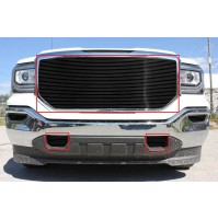 2016 Gmc Sierra 1500 3Pc Upper & Tow Hook Accents Billet Grille Kit