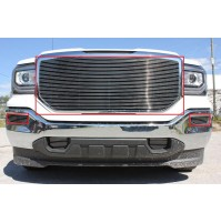 2016 Gmc Sierra 1500 3Pc Upper Insert & Fog Accent Billet Grille Kit