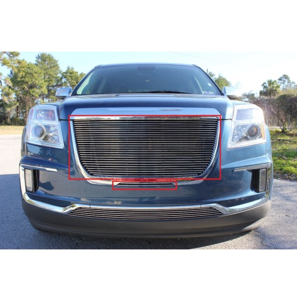 2017 Gmc Terrain 2Pc Upper Replacement & Mid Bumper Billet Grille