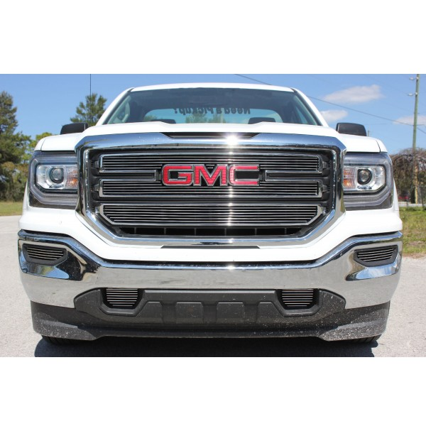 2017 Gmc Sierra 1500 7Pc Upper, Tow & Fog Accents Billet Grille