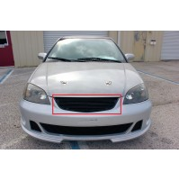 2001 Honda Civic Coupe 1Pc Upper Replacement Billet Grille