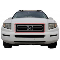 2008 Honda Ridgeline 1Pc Upper Overlay Billet Grille Kit