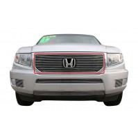 2014 Honda Ridgeline 1Pc Upper Overlay Billet Grille With Cutout