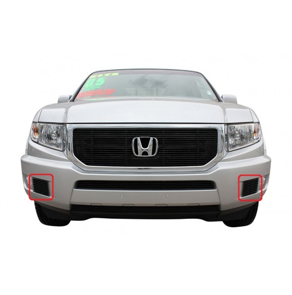2014 Honda Ridgeline 2Pc Bumper Accent Billet Grille Kit