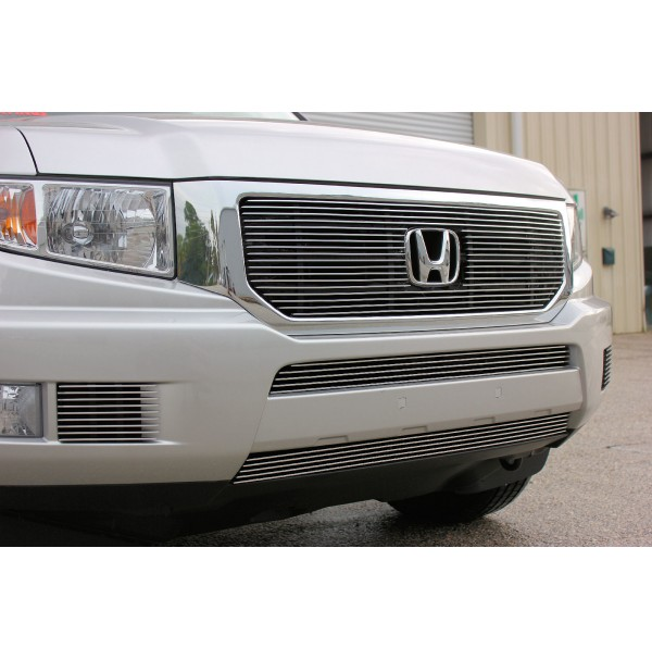 2014 Honda Ridgeline 5Pc Overlay Combo Billet Grille Kit With Cutout