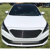2015 Hyundai Sonata Limited or Sport 2Pc Replacement Combo Billet Grille Kit