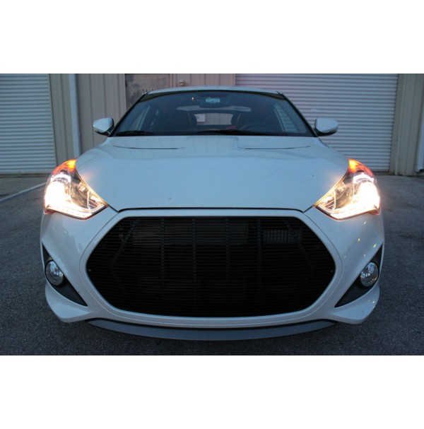 2013 Hyundai Veloster Turbo 1Pc Replacement Billet Grille