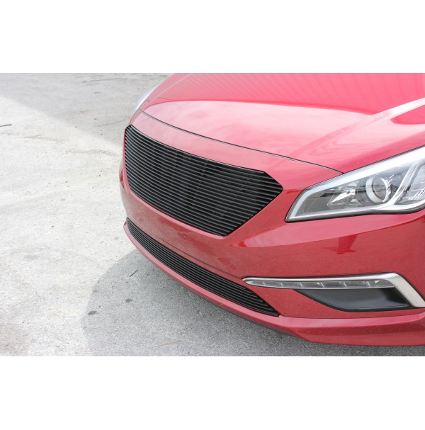 2017 Hyundai Sonata 2Pc Blk Upper /Bumper Replace Billet Grille
