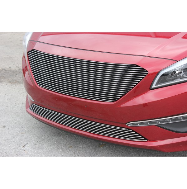 2015 Hyundai Sonata 2Pc Replacement Combo Billet Grille Kit