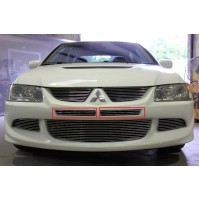 2003 Mitsubishi Lancer Evo 8 2Pc Overlay Center Bumper Billet Grille Kit