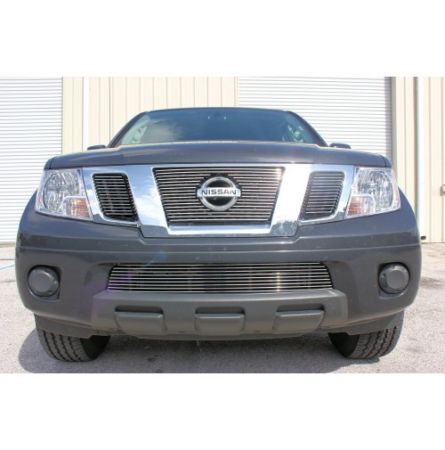2015 nissan frontier 4pc combo billet grille kit for urethane black or painted to match bumper 2015 nissan frontier 4pc combo billet