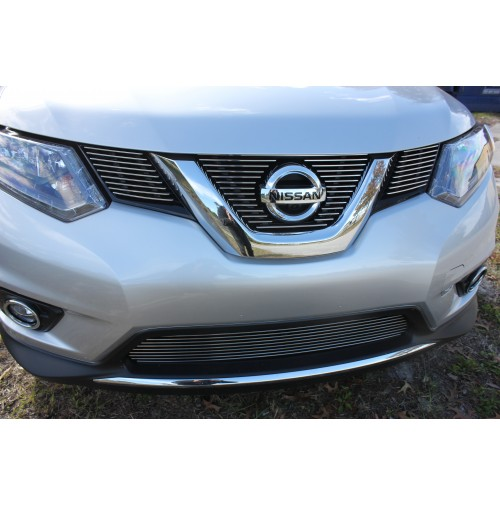 2016 Nissan Rogue 4Pc Upper Insert/Bumper Billet Grille