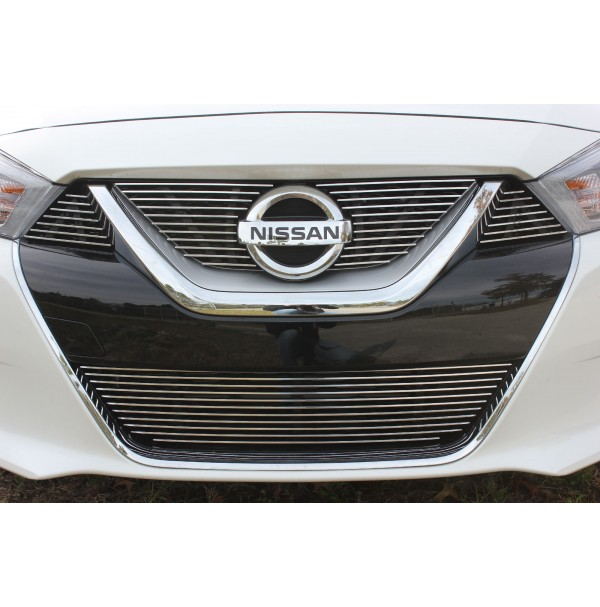 2016 Nissan Maxima 5Pc Upper, Accents & Bumper Billet Grille