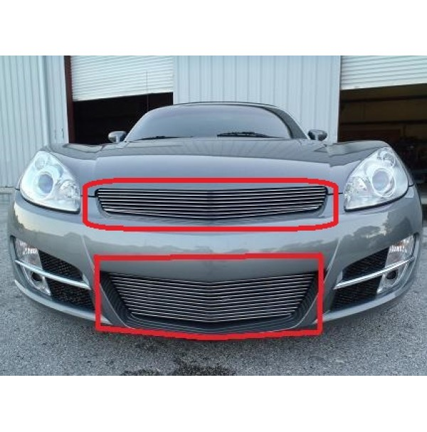 2008 Saturn Sky 2Pc Upper & Bumper Billet Grille Kit