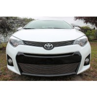 2016 Toyota Corolla S 3Pc Upper & Bumper Billet Grille Kit