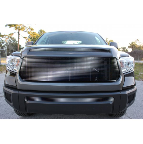 2016 Toyota Tundra 3Pc Upper, Bumper & Hood Billet Grille Kit