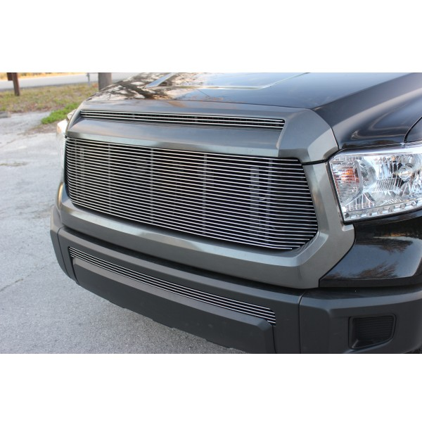 2017 Toyota Tundra 3Pc Upper, Bumper & Hood Billet Grille Kit