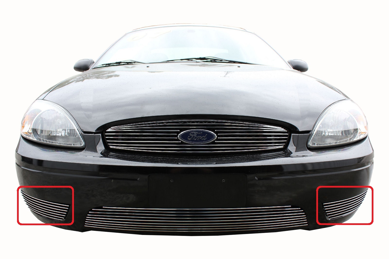 2004 ford taurus 2pc bumper accent billet grille kit quick view